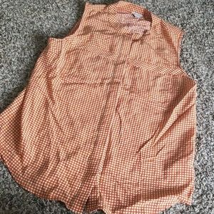 Fossil Button Down Silk Sleeveless Top 4
